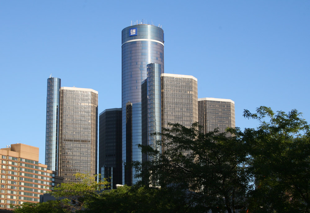 GM Headquarters in Detroit - Free Stock Image